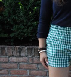 Jcrew gingham shorts #preppy #classicprep #summerprep #thecrewprepster Preppy Clothes, Preppy Outfits, Cool Outfits, Fashion Outfits, Prep Style, My Style, Gingham Shorts, Types Of Fashion Styles, Spring Summer Fashion