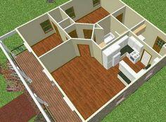 Planos de Casas Pequeñas: planos en 3d de casas