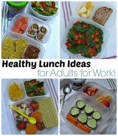 Healthy lunch ideas... for adults! Pack a healthy lunch to help curb cravings throughout the day! #healthylife #feelwell #livewell