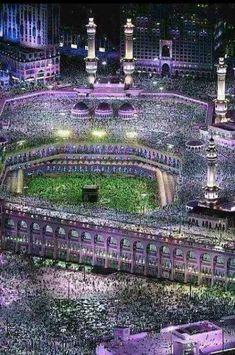 lighting and moving or animated Mecca Madinah, Mecca Masjid, Masjid Al Haram, Mecca Hajj, Mecca Islam, Islam Muslim, Mecca Wallpaper, Islamic Wallpaper, Islamic Images