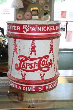 1940's Pepsi Cola 5 Gallon Syrup Bucket