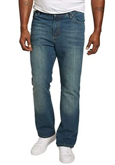 Men's Big and Tall Relaxed Tapered Fit Side Elastic Jeans, * Details can be found by clicking on the image. (This is an affiliate link) Mens Big And Tall, Big & Tall, Liberty Blue, All Jeans, Elastic Waist, Blues, Athletic, Pocket, Fitness