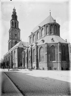 Martini church and tower early 1900.