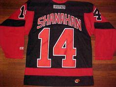 2ae0507d4 CCM NHL HOF Detroit Red Wings Brendan Shanahan  14 Black Red Hockey Jersey S