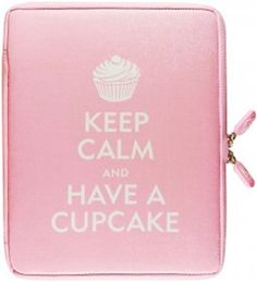 Neoskin Ipad 2 Cover Keep Calm Have A Cupcake  Available at: http://www.myprettyoffice.com/products/482-neoskin-ipad-2-cover-keep-calm-have-a-cupcake.aspx