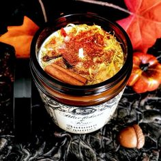 Fall Candle Samhain Candle Goth Candle Halloween Candle Cinnamon Clove Magick Candle for Autumn Witch Candle Vegan Scented Soy Candle
