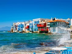 Mykonos Mykonos, Greece sky leisure Sea scene Harbor Town Ocean Beach Coast Resort Water park marina vehicle caribbean day