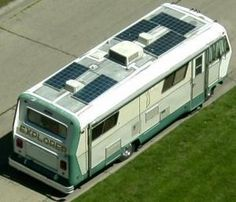 Solar Panels on the roof of your RV can generate enough electricity to run many RV appliances while on the road or parked at camp.