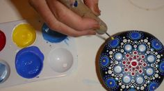 How to paint dot mandalas-#19. Red, Bright and Blue - YouTube