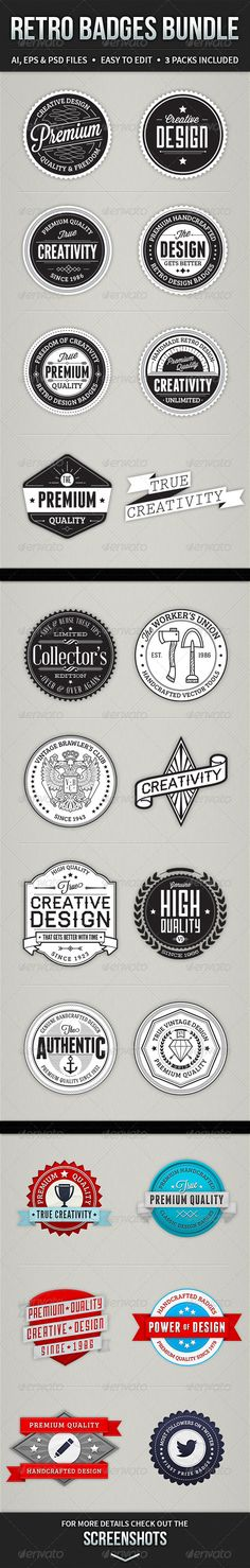 Retro Badges Bundle