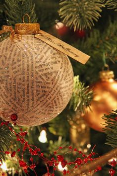 Mrs. Dalloway ornament, made for my book themed Christmas tree (2013).