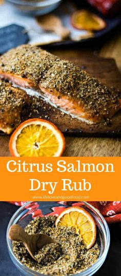 this delicious Citrus Salmon Dry Rub with spices easily found in your pantry, and then grill the seasoned salmon on a cedar plank in just 15 minutes! Impressive flavor that's perfect for dinner guests! Salmon Recipes, Fish Recipes, Seafood Recipes, Dinner Recipes, Healthy Recipes, Healthy Food, Dinner Ideas, Recipies, Healthy Eating