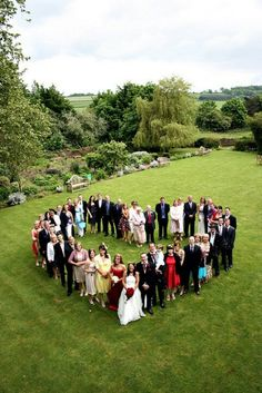 Family heart friends guests wedding