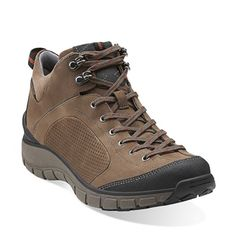 Clarks Originals - Wave Hiker Bark Nubuck Leather $159. Crafted of premium bark nubuck, this women's hiking boot features Clarks WAVEWALK™ technology and a removable OrthoLite® footbed that cushions every step. The innovative curved rocker sole conserves energy, absorbs shock, and cushions the joints to enhance the walking experience. Lace up this sporty nubuck boot over leggings or skinny jeans and you'll walk in comfort and style.