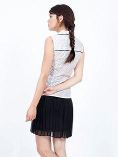 SALE white blouse - sleeveless blouse - blouses for women - sleeveless shirt - sleeveless top