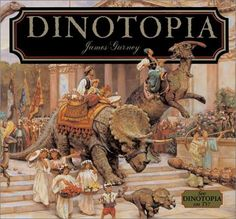"""""""Dinotopia: A Land Apart From Time (Dinotopia Series #01)"""" by James Gurney --- This was a re-read of one of my favorite childhood books, originally published in 1992. The story is rich yet simple enough for a child to understand. For example, Gurney has created an entire language for his world's inhabitants! Best of all, Gurney's paintings of the dinosaurs are breathtaking. It's definitely a classic in my book! GOODREADS RATING: 5/5 Stars"""