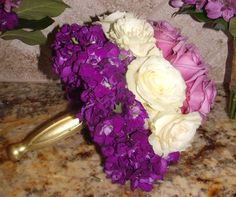 Almost ombre bouquet in purple