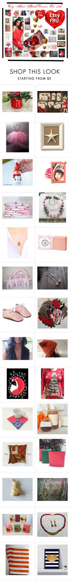 """""""Etsy Fru Heart Attack... Oct 29th"""" by zebacreations ❤ liked on Polyvore featuring Calavera, Hostess and Therapy"""