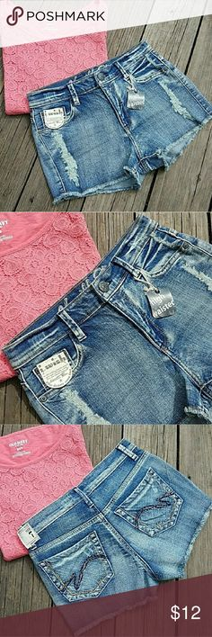 🆕 VANILLA STAR Denim Shorts Size 7 Brand new with tags! VANILLA STAR high waist denim shorts with destruction on front and pockets. Must have for summer! Super cute!  Tags: camo country girl southern girl western southwestern buckle miss me justin boots ariat almost famous jeans shorts new follow game sale boho festival summer sale denim shorts jeans skirt mini juniors womens leggings yoga pants vanilla star american eagle aero aeropostale Vanilla Star Shorts Jean Shorts