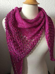 Ravelry: Charmayne pattern by Emily Wood Free Knit Shawl Patterns, Crochet Baby Hat Patterns, Lace Patterns, Knitting Patterns, Knitting Ideas, Scarf Patterns, Pattern Ideas, Knitting Projects, Crochet Ideas