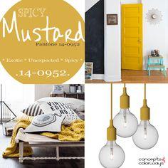 pantone spicy mustard used in interior design, 2016 color trends, mustard yellow