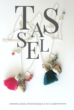 Silver and Tassel Necklaces from JewelryByMaeBee on #Etsy. #sfetsy www.jewelrybymaebee.etsy.com