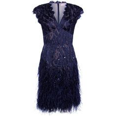 Matthew Williamson 'Midnight' Navy Dress ($3,915) ❤ liked on Polyvore featuring dresses, vestidos, short dresses, blue, navy cocktail dress, short lace dress, short sequin dress, navy blue cocktail dress and blue lace dress