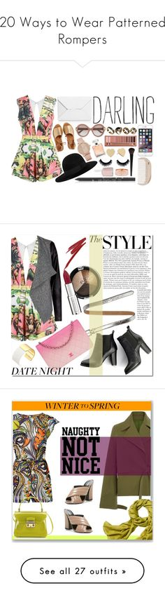 """""""20 Ways to Wear Patterned Rompers"""" by polyvore-editorial ❤ liked on Polyvore featuring rompers, waystowear, Posh Girl, J.W. Anderson, Kaanas, Yves Saint Laurent, Valentino, ALDO, BHCosmetics and Urban Decay"""