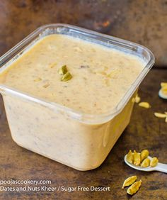 Dates and Nuts Kheer / Sugar Free Dessert | poojascookery.com