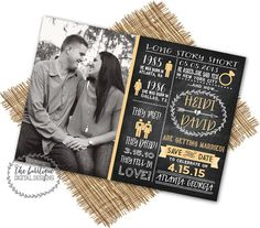 SAVE THE DATE Timeline Chalkboard {Long Story Short, Heres Our Story, Our Love Story}-Unique Save The Date-Digital Printable 5x7