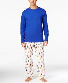 Family Pajamas Men's Skiing Elves Parade Pajama Set, Only at Macy's