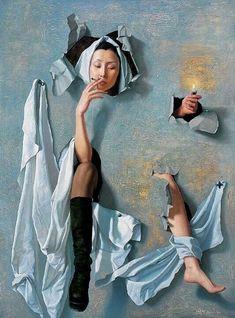 Zeng ChuangXing... Paper Bride, oil on Canvas portrait …                                                                                                                                                                                 Más