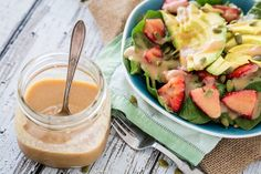 This salad dressing uses applesauce to emulsify the ingredients and produce a surprisingly thick vinaigrette that is virtually fat-free!