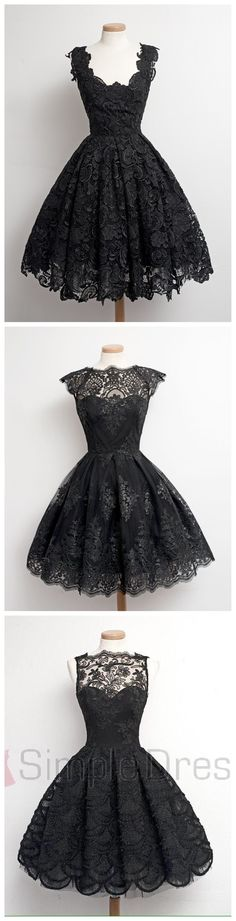 which one is your favorite? #little black lace dress #vintage dresses #party dresses