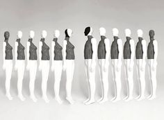"""MANNEQUIN ATELIER, London, UK, """"Hounds tooth trends for Fall/Autumn"""", from Bonami Mannequins, pinned by Ton van der Veer"""