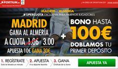 el forero jrvm y todos los bonos de deportes: Super cuota 3 Real Madrid vs Almería Liga bbva Spo...