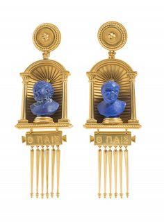 Galerie des bijoux - boucles d'oreille, vers 1870