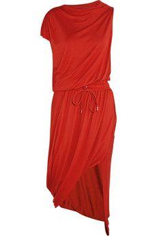 Vivienne Westwood Anglomania Quest drapiertes Kleid aus Stretchjersey | NET-A-PORTER