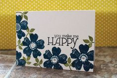 Happy Card by The Stampin B  www.TheStampinB.blogspot.com