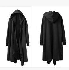 Rebelsmarket mens gothic loose casual jacket long cloak cape coat coats 3
