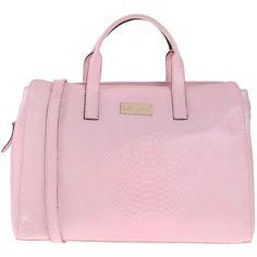 Blugirl Blumarine Handbag ($200) ❤ liked on Polyvore featuring bags, handbags, pink, doctors bag, gladstone bag, pink purse, pink leather handbags and python handbags