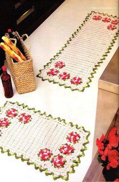 Tapete Floral II | Receitas de Croche