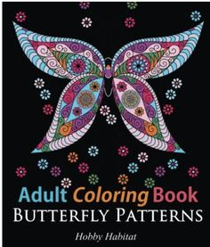 Adult Colouring Book Butterfly Zentangle Patterns Ebook 499