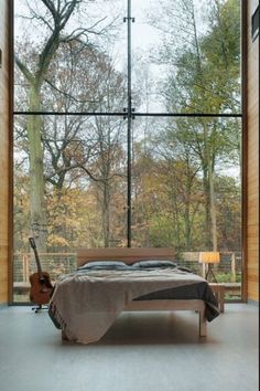 Love this master bedroom. Must have widows