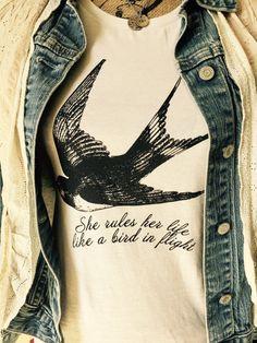 Stevie Nicks ~ Fleetwood Mac ~ Rhiannon t shirt  ~ stevie nicks style ~ super soft 100% cotton ~ she rules her life like a bird in flight