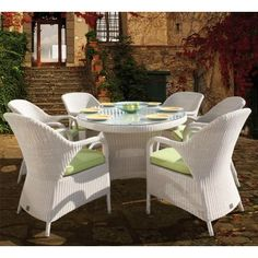 White rattan garden furniture from Garden Chic