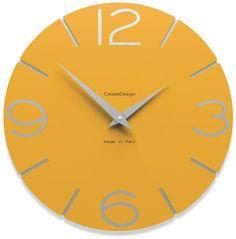 CalleaDesign - Orologi da muro Smile, Colore: Nero: EURO 79,50