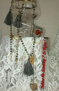 Collane e orecchini a rosario creazione artigianali Vetrina #sabinanosmokingsibijou