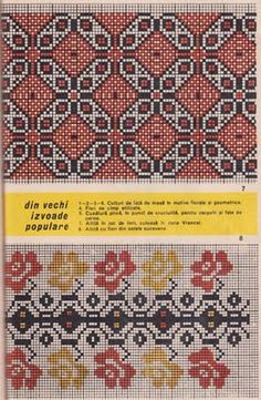 Modele de cusaturi in punct de cruciulita (cross stitch) Cross Stitch Borders, Cross Stitching, Cross Stitch Embroidery, Embroidery Patterns, Cross Stitch Patterns, Blackwork, Fair Isle Chart, Vintage Cross Stitches, Filet Crochet