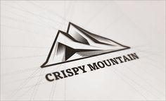 Crispy-Mountain-Linocut-Logo-Design - Latest Technology News | Social Media Tips | Latest Tech Tips